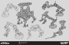 Small eugene negri mp drone robot arms sketches
